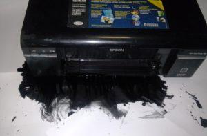 Принтер капает краской - что делать?